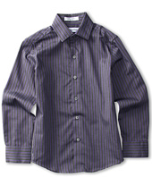 Calvin Klein Kids - L/S Alternating Iridescent Stripe Shirt (Big Kids)