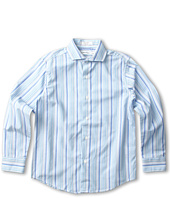 Calvin Klein Kids - L/S High-Low Stripe Shirt (Big Kids)
