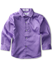Calvin Klein Kids - L/S Sateen Hanging Fashion Shirt 2 (Little Kids)