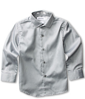 Calvin Klein Kids - L/S Sateen Hanging Fashion Shirt (Little Kids)