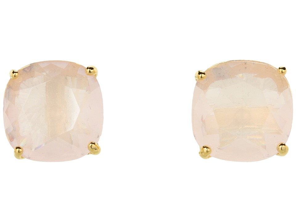 Kate Spade New York - Small Square Studs (Light Pink) Ear...