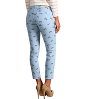Paige - Kylie Crop Bicycle Print in Island Blue
