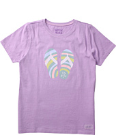 Life is good Kids - Girls' Ripple Flip Crusher Tee (Little Kids/Big Kids)
