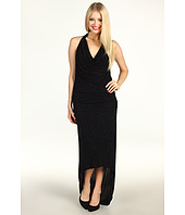 Laundry by Shelli Segal - Cowl Neck Glitzy Knit Halter Gown