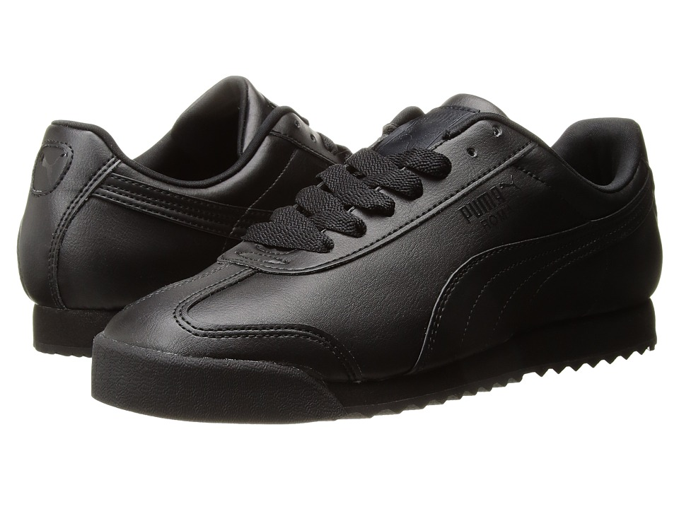 PUMA - Roma Basic (Black/Black) Mens  Shoes