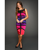 Jax - Spliced Satin Colorblock Dress