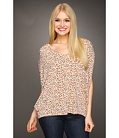 BCBGeneration - Printed Back Pleat Cowl Top