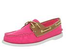 Sperry Top-Sider - A/O 2 Eye (Bright Pink Salt Washed Canvas/Cognac)