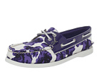 Sperry Top-Sider - A/O 2 Eye (Blue Milly/Floral Print/Blue Patent)