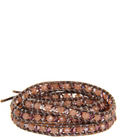 Chan Luu - 32' Wrap with Semiprecious Stones and Crystal Nutmeg/Natural Grey