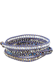 Chan Luu - 32' Wrap with Swarovski Crystals Metallic Blue Mix