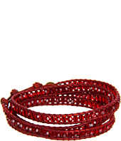 Chan Luu - 32' Wrap with Swarovski Crystals Siam Natural Dark Red