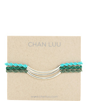 Chan Luu - 3 Pack Friendship Metal Tube Bracelet Turquoise Mix