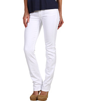 7 For All Mankind - Kimmie Straight Leg w/ Contoured Waistband in Clean White