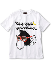 Roberto Cavalli Kids - Y88151 Y9045 Graphic Tee w/ Monkey (Big Kids)