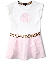 Roberto Cavalli Kids - Y71011 Y1295 Dress w/ Logo (Toddler/Little Kids)