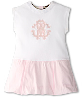 Roberto Cavalli Kids - Y51002 Y1295 Short Sleeve Dress w/ Logo (Infant 2)