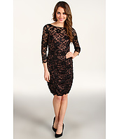 Eliza J - 3/4 Surplice Lace Dress w/ Ruching