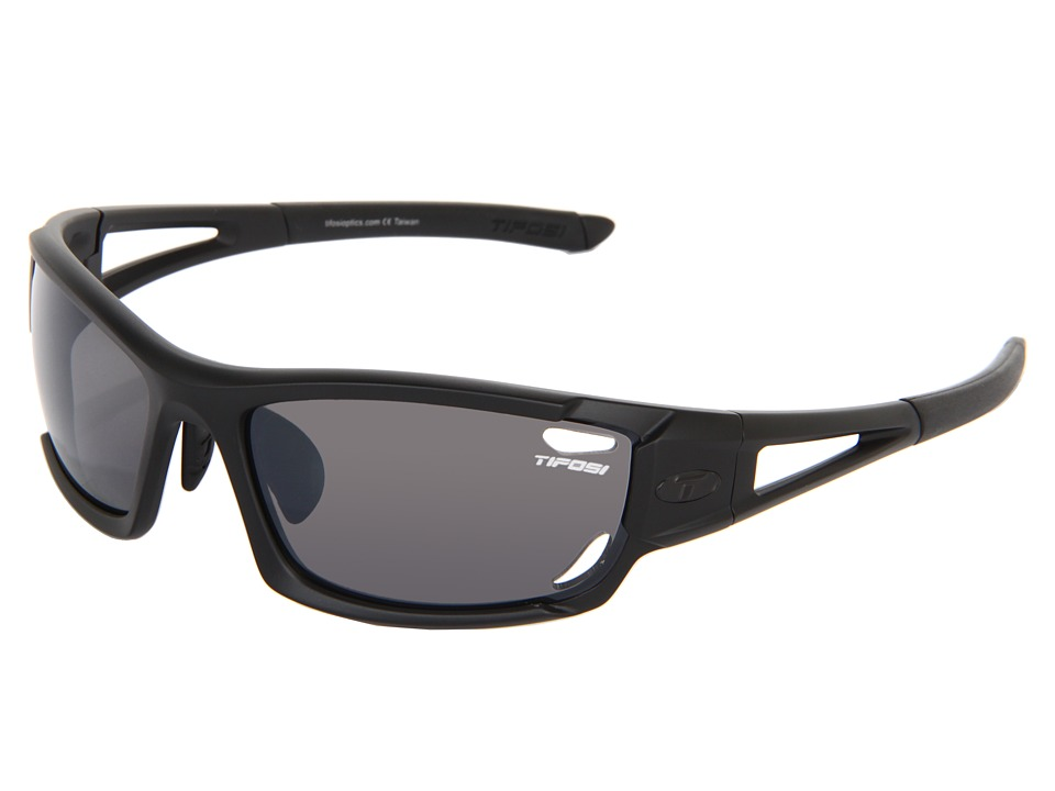 Tifosi Optics - Dolomitetm 2.0 Interchangeable (Matte Black/Smoke/AC Red/Clear Lens) Sport Sunglasses