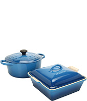 Le Creuset - 3.5 Qt.Signature Round French Oven with Heritage Square Casserole
