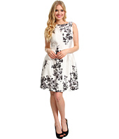 Vince Camuto - S/L Pleat Front Graphic Garden Dress