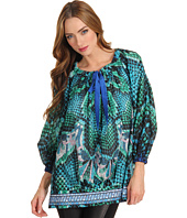 Just Cavalli - Atlantis Print Silk Muslin Blouse