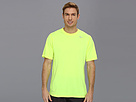 Nike Legend Dri-FIT Poly S/S Crew Top (Volt/Dark Grey Heather/Matte Silver) Men's Short Sleeve Pullover