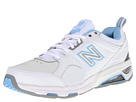 New Balance WX857 White, Blue Shoes