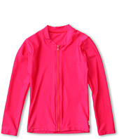 Seafolly Kids - L/S Feather Zip Front Rashie (Little Kids/Big Kids)