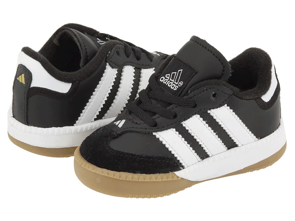 adidas Kids Samba Millennium Core (Infant/Toddler) (Black/Running White) Kids Shoes