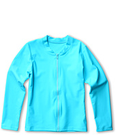 Seafolly Kids - Tropica Crush L/S Zip Front Rashie (Little Kids/Big Kids)