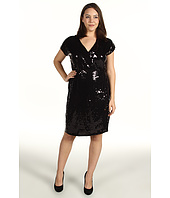 MICHAEL Michael Kors Plus - Plus Size S/L Sequined Wrap Dress
