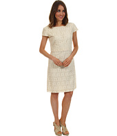 Jessica Howard - Crochet Cap Sleeve Dress w/Beading