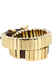 Michael Kors - Double Wrap Watch Link with Leather Bracelet