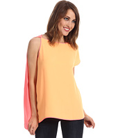 Halston Heritage - Drape Top with Asymmetric Cap Sleeve