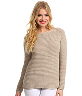 Halston Heritage - Long Sleeve Raglan Textured Sweater
