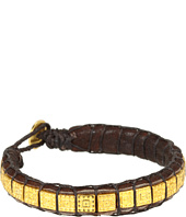 Dogeared Jewels - Square Bead & Leather Bracelet