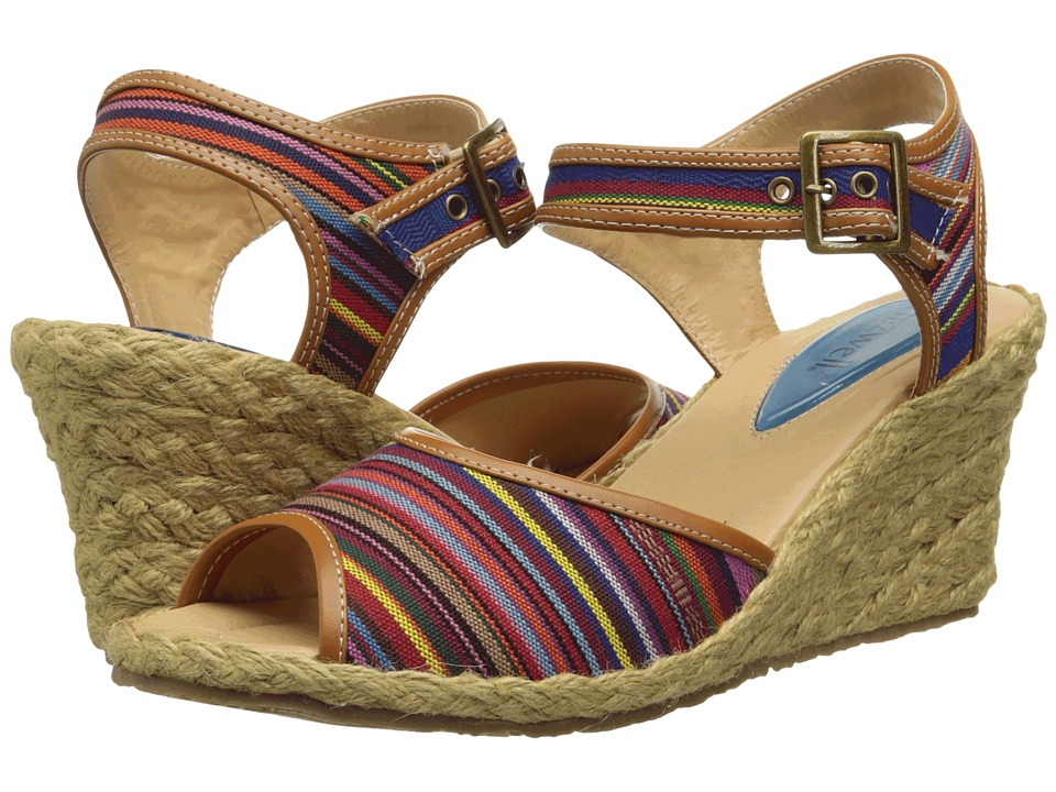 Fitzwell Jackie (Guatemalen stripe fabric) Women's Sandals, wide width womens sandals, wide fitting sandal, cute, WW