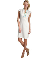 Jessica Howard - Cap Sleeve Beaded Yoke Shift Dress