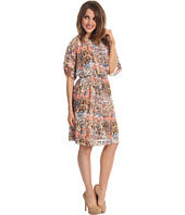 Jessica Howard - Dolman Sleeve Smock Waist Blouson Dress