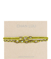Chan Luu - 2 Pack Friendship Crystal Bracelet Neon Yellow Mix