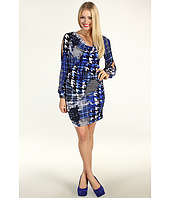 Muse - Cowl Neck Side Ruched Split Sleeve Dress