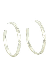 Dogeared Jewels - Medium Textured Earrings - Wheat