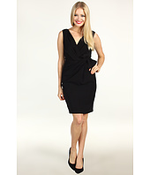 ABS Allen Schwartz - V-Neck Sleeveless Dress w/ Side Bow Accent