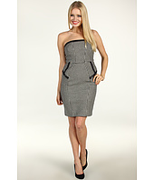 ABS Allen Schwartz - Bustier Dress w/Leather Binding