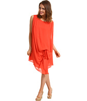 Halston Heritage - S/L Dress with Cinched Side Waist