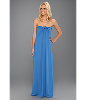Halston Heritage - Strapless Gown with Center Tie Front
