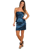 ABS Allen Schwartz - Strapless Gathered Bodice Peplum Dress