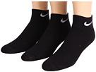 Nike Kids - Cotton Cushion Quarter Length Socks w/ Moisture Management 3-Pair Pack (Little Kid/Big Kid)