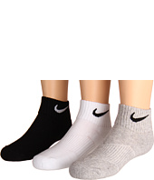 Nike Kids - Cotton Cushion Quarter Length Socks w/ Moisture Management 3-Pair Pack (Little Kid/Big Kid)